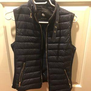 Zara navy down vest